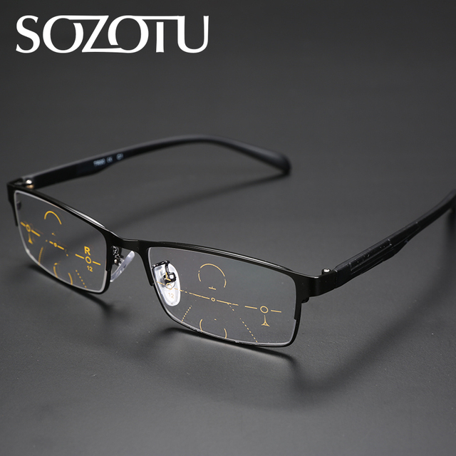 f52f835db22 Multi-focal Progressive Reading Glasses Men Women Presbyopic Spectacles  Eyeglasses Unisex Eyewear +1.0+1.5+2.0+2.5+3.0+3.5 YQ103