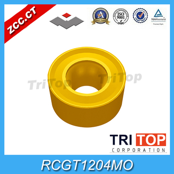 ZCCCT carbide inserts RCGT1204MO  YBC251 (10pcs/Lot) ZCC.CT cemented carbide Tool turning insert for aluminium