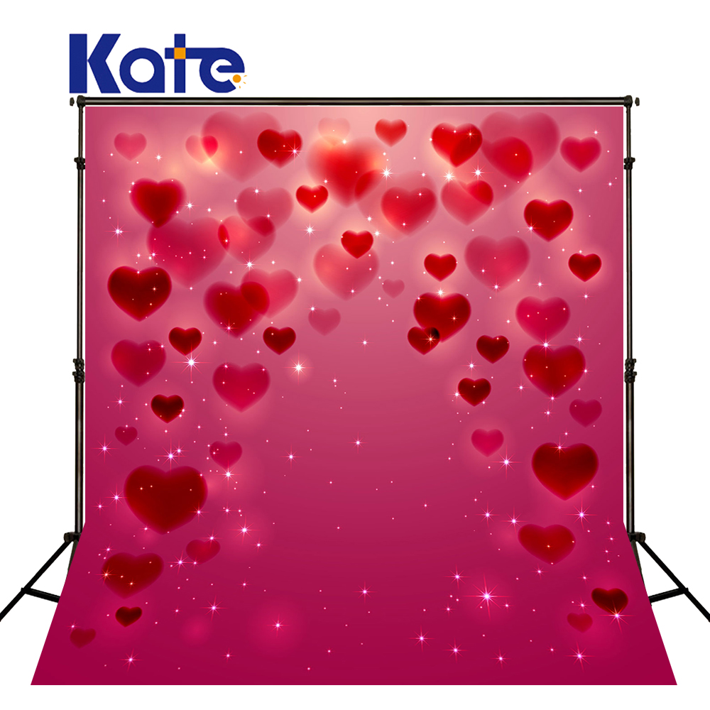 Kate 10X10FT Red Wedding Photocall Bokeh Photo Background Photography Backdrop Valentine'S Day Backgrounds For Photo Studio allenjoy backdrop spring background green grass light bokeh dots photocall kids baby for photo studio