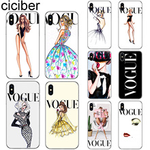 ciciber Vogue Phone Case For Iphone 7 8 6 6S Plus 5S SE X XR XS MAX Cover Soft Silicone for iPhone 11 Pro Max Woman More Fundas