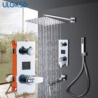 Ulgksd термостатический контроллер Ванная комната смеситель для душа 3 способами Для ванной набор для душа горячей и холодной смесителя Para Для
