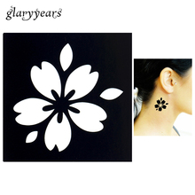 1 Sheet Temporary Airbrush Small Henna Stencil For Women Body Art Painting Romantic Sakura Picture DIY Tattoo Stencil Design G74