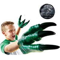 2 PCs Dinosaur Claws Gloves for Kids Children Halloween Party Cosplay Favors Hand Puppet Show Cool TOYS