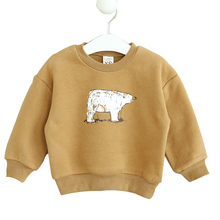 2016 Fashion Kids Knitting Cashmere Sweater Coat Kawaii Boys Girls Knitted Sweaters Infant Cartoon Bear Thickening Sweatshirts