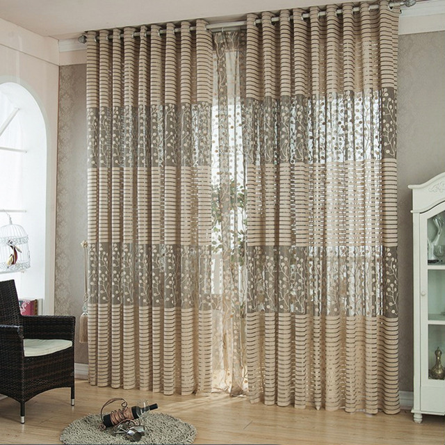 New Arrival Curtains European Simple Design Window Drape Blackout  Tulle/Voile Curtain For Living Room