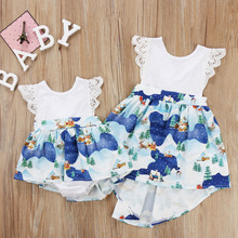 Christmas Baby Girl Clothging Cute Kids Toddler Girls Lace P