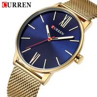 2018 Top Brand CURREN Men Simple Quartz Watches Mens Fashion Stainless Steel Waterproof Watch Man Analog