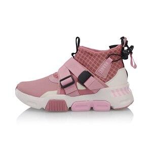 Image 4 - Li Ning Women SURVIVER K Walking Shoes Mid cut Zipper Buckle Leisure Durable Anti slip LiNing Sport Sneakers AGLP046 SJFM19