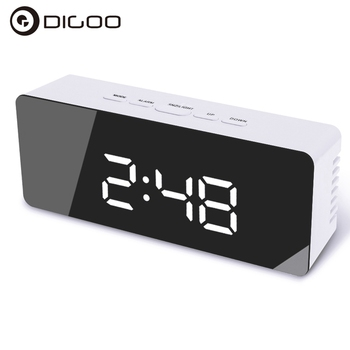 Digoo DG-DM1  Smart Home Automation Kits Wireless USB Mirror LED Digital Therometer Temperature Night Mode for Black Alarm Clock