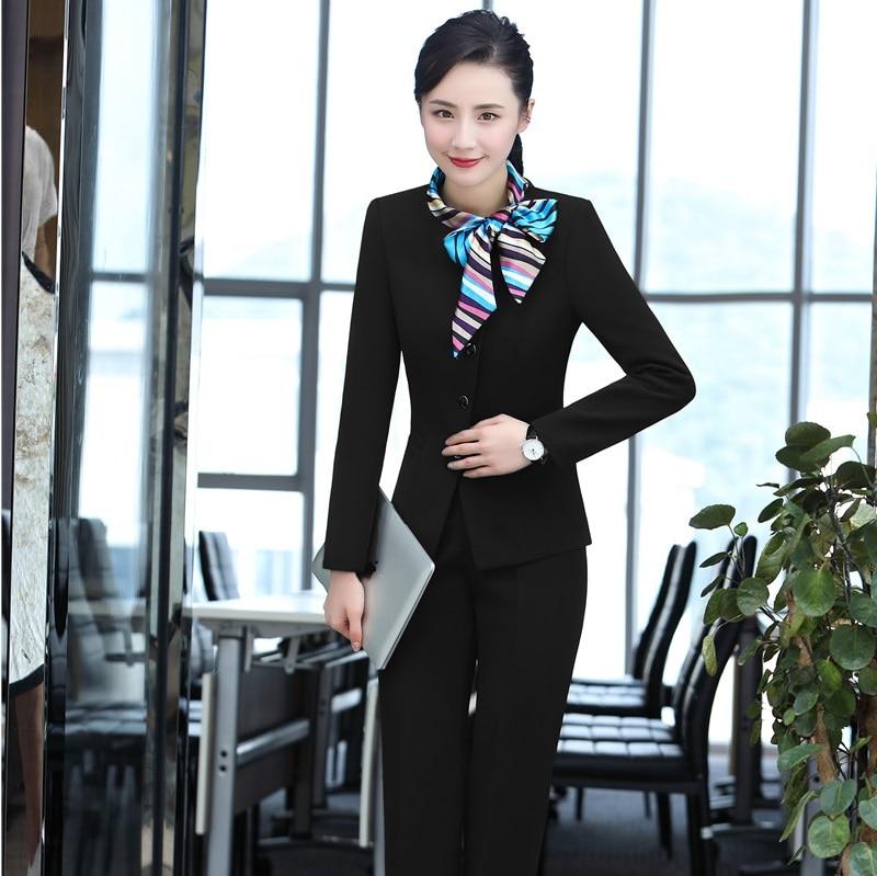 Et La blue Écharpe black Violet Taille Vestes Plus Femmes Pour Nouveauté Pantsuits Styles Blazers Automne Avec Uniforme D'affaires Hiver Pantalons Purple anYFqw