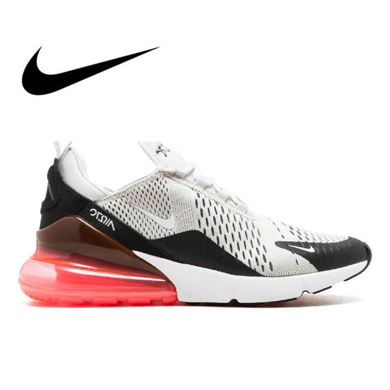 2d75e4ae Оригинальная продукция Nike Air Max 270 для мужчин дышащие Настоящие  Кроссовки для бега износостойкие удобные Спорт
