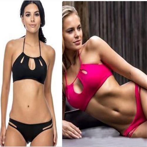 Htex Fashional Sports New style pure color sexy  Bikinis set Beach suit Swimwear Bikinis brasilenos Sports bra Bikini brazilian Bikinis set