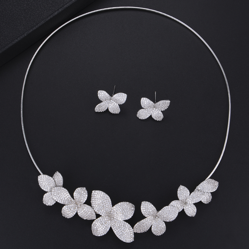 missvikki 3 Colors Wedding Women Jewelry Set Necklace Earring Cute Shiny Accessories for Women Anniversary Party Jewelry missvikki 3 Colors Wedding Women Jewelry Set Necklace Earring Cute Shiny Accessories for Women Anniversary Party Jewelry