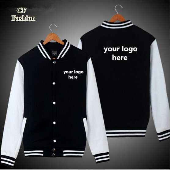 bomber jacket men DIY custom logo baseball jackets coat cardigan ...