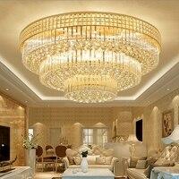 Modern minimalist round crystal lamp ceiling lamp LED living room lamp atmosphere bedroom Hotel ceiling Lights lighting fixtures