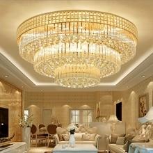 Modern minimalist round crystal lamp ceiling LED living room atmosphere bedroom Hotel Lights lighting fixtures