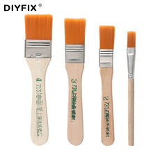 DIYFIX 4Pcs Soft Cleaning Brush Computer Keyboard PC Dust Cleaner Wood Handle for Electronics Mobile Phone PCB Repair Tools Set(China)