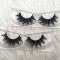 Free shipping  2pcs/lot 3D horse hair lashes thick and crossing horse or mink fur eyelashes
