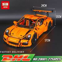 LEPIN 20001 20001B Technic Series 2704Pcs 3368 Race Car LegoINGly 42056 Model Building Blocks Bricks Kids