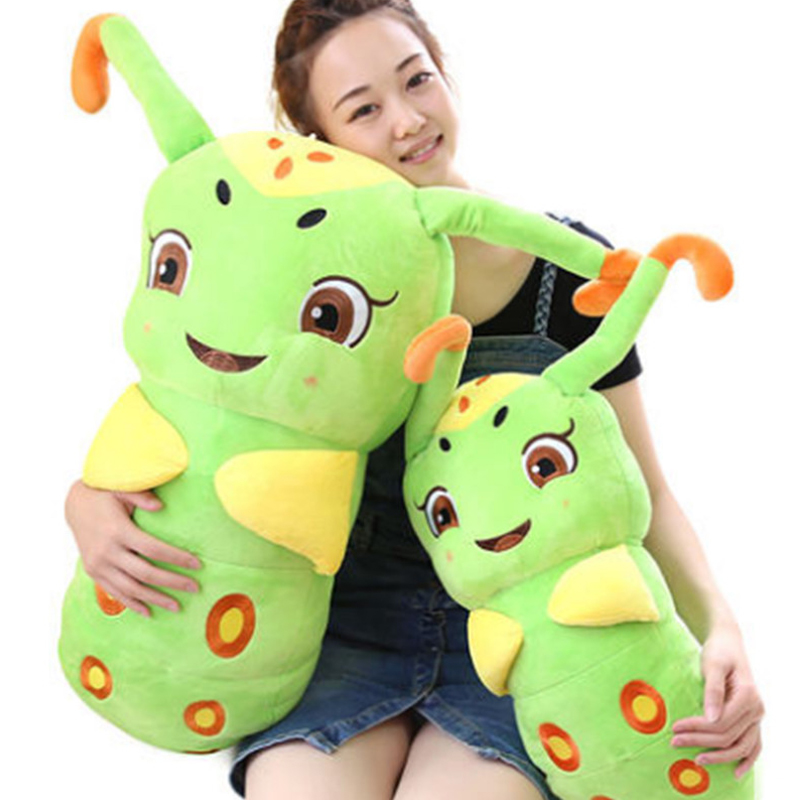 Fancytrader Soft Stuffed Green Caterpillar Plush Toys Cartoon Animals Worm Pillow Doll 90cm 35inch Gifts for Children fancytrader giant stuffed sleeping giraffe pillow doll big soft lying animals giraffe toys for children 90cm 35inch