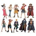 2pcs/set 17cm One Piece Luffy Ace usopp nami nico Marco Roger PVC Action Figure Model Toys One Piece Figure