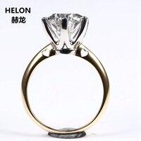 3ct Moissanites кольцо Solid 14 К желтое золото круглый VVS/F G Lab Grown Moissanites бриллиантовое обручальное кольцо женское белое золото зубцы