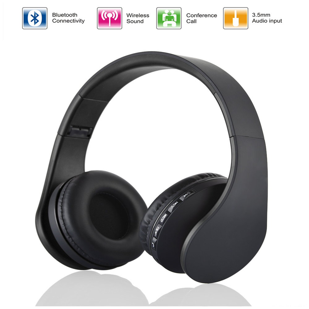 New LH-811 Wireless Stereo Bluetooth Heaphone Foldable EDR Earphone Handsfree Headset Mic MP3 FM for Smart Phones Tablet PC universal wireless stereo bluetooth headset heaphone earphone handsfree with mic for smartphone htc lg samsung iphone ps3 tablet