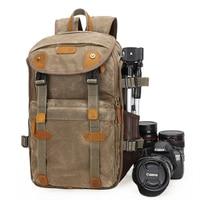 LXH Batik Canvas Camera Backpack Multifunction Large Capacity photography Bag for Canon Nikon Sony DSLR Waterproof Camera Bag