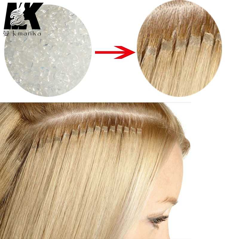 Wholesale ITALIAN Keratin glue grain for Hair Weft Keratin Glue Granule White color for I tip/ U-tip hair
