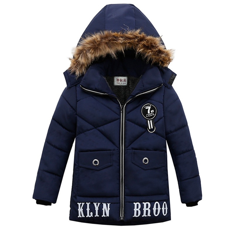Autumn Winter Boys Jackets For Boys Hooded Cotton-padded Clothes Baby Boy Coat Kids Jacket Winter Children Outerwear Coats boys lamb wool jacket coats winter boy coat children fashion outerwear kids clothes boutique clothing