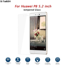 ФОТО ultra slim for huawei ascend p8 5.2 inch tempered glass for huawei p 8 screen protector in front of explosion proof film glass