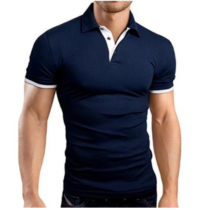 MRMT 2019 Brand Summer New Men's T-shirt Lapel Casual Short-sleeved Stitching T-shirt For Male Solid Color Pullover Tops T-shirt