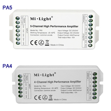 MiLight PA4/PA5 DC12V 24V 15A 4CH 5 Channel High Performance Amplifier Series Controller And all PWM Type Led