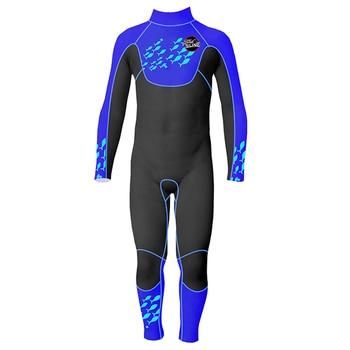 Slinx 2.5 Millimetri di Un Pezzo di Tutto Il Corpo a Maniche Lunghe Costume da Bagno per Bambini Muta per I Ragazzi Protezione Uv Tenere in Caldo per Le Immersioni immersioni Nuoto