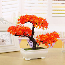 Kunstmatige Potplant Bonsai Indoor-Guest Groet Pine Tree Home Tafel Decoratie Nep Bloem Boom Decor Plastic(China)