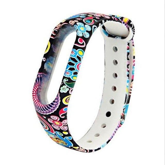 Colorful wristband for women men New Fashion Pattern TPU Smart Wrist Watch Strap