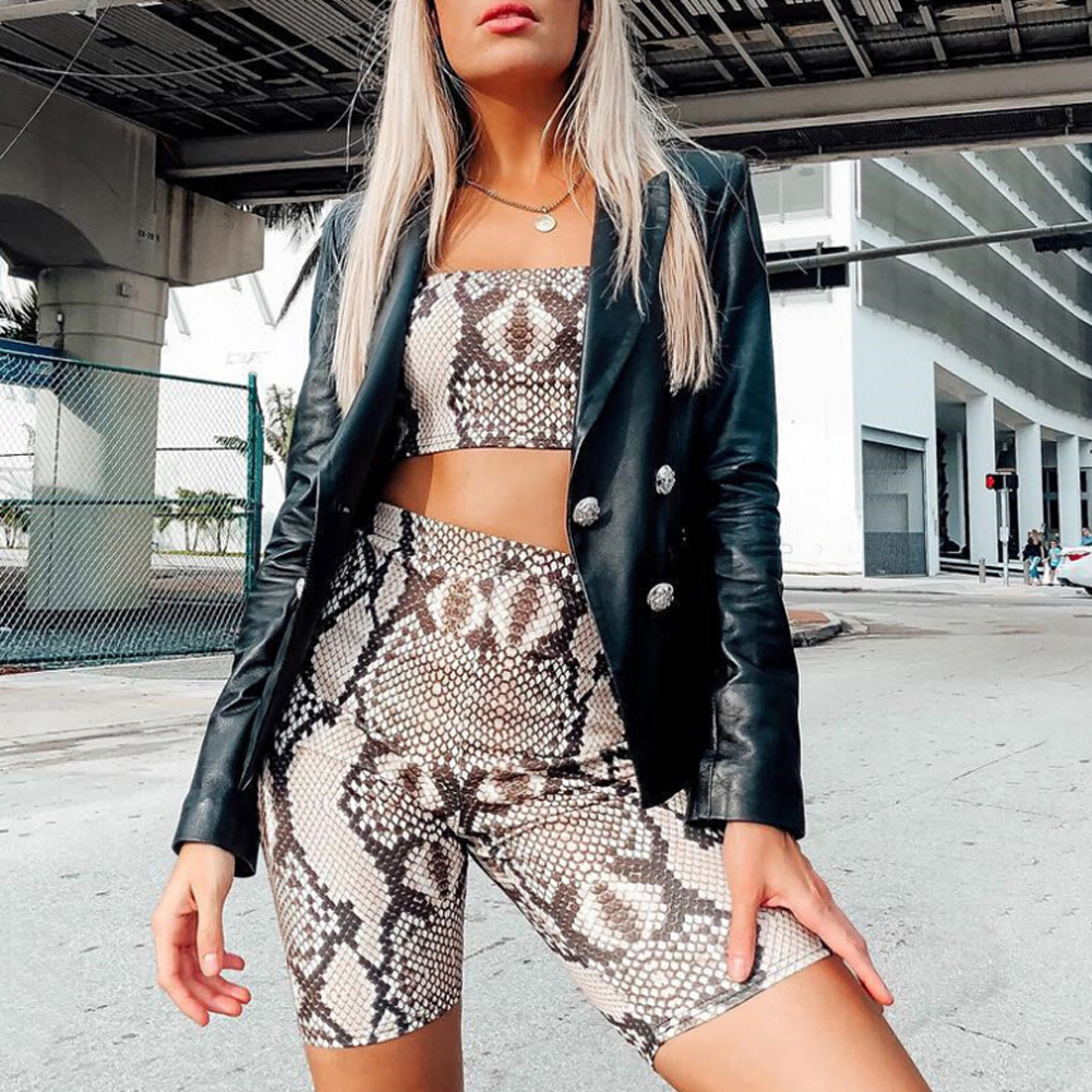 Womens Autumn Casual Shinny Tube Top Shorts Bodycon Two Piece Set Outfits Short Sport Jumpsuit Sets 6