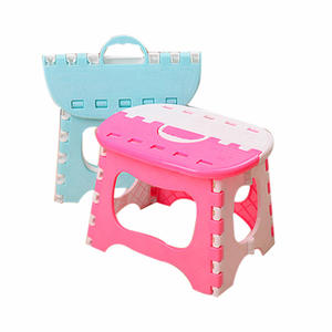 Folding Portable Outdoor Child Step Stool Plastic Chair