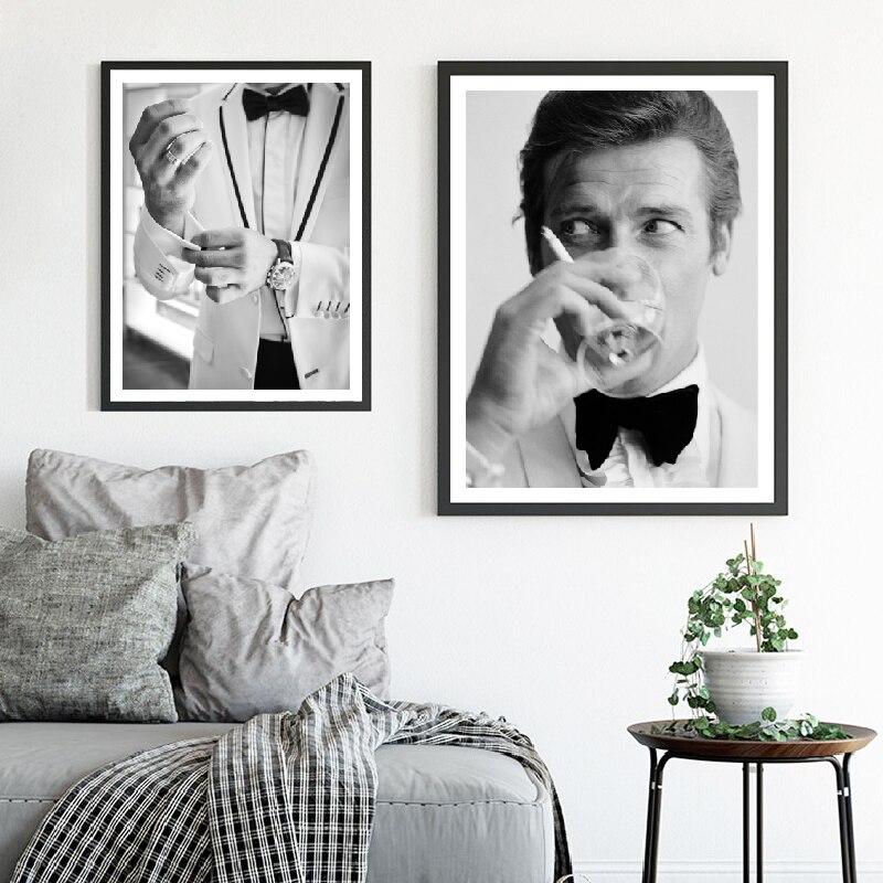 Джентльменский шпионский фильм 007 художественный плакат на холсте Живопись, модный мужчина в костюме макияж принты стены Искусство Картины домашний декор|art poster|wall picturespicture for wall | АлиЭкспресс