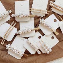 Xugar Hair Accessories Pearl Metal Hair Clips For Women Girls Bobby Pin Hairgrip Barrette Hairpins 3 4 5pcs pearl hair clips women hairpin girls hairpins barrette bobby pin hairgrip hair accessories dropship ins hot sell new