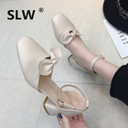 Strappy sandals soulier femme Solid Color strappy heels korean style casual shoes tacones sandalias new arrival schoenen