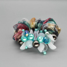 цены HQ1 2017 New fashion Colorful Hair ring Crystal multicolored Elastic hair bands children girls hair Circle Accessories Headwear