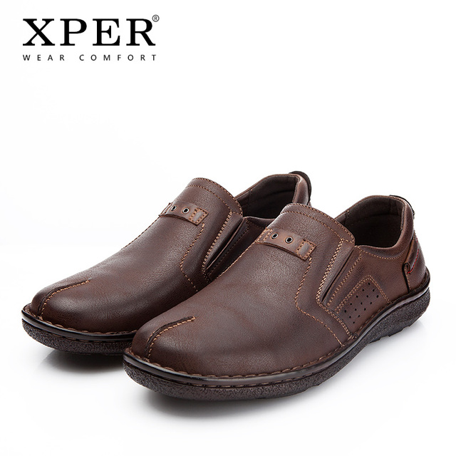 XPER מותגי גברים נעלי אביב קיץ אופנה מגניב גברים של דירות נעליים נוח נמוך גבר נעליים יומיומיות חום הנעלה # YMD86872