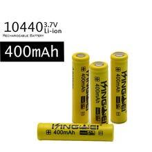 100 sztuk/partia kingwei 10440 (AAA) 3.7 v akumulator litowo-jonowy baterii litowych 400 mah akumulator Bateria