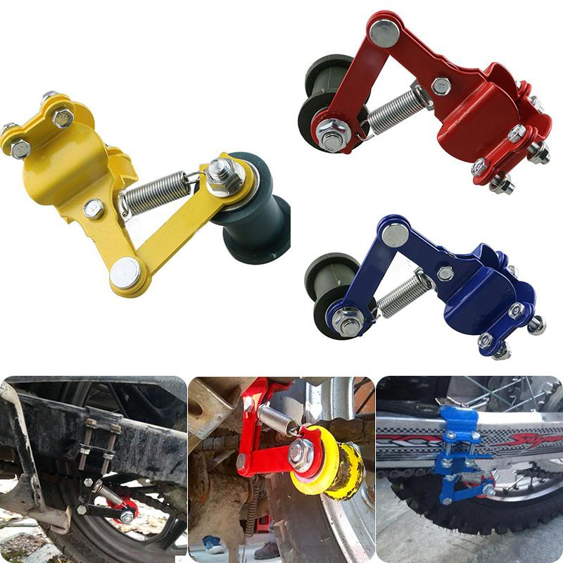 Universal Aluminum Motorcycle Chain Tensioner Adjuster Roller Tools Modified Accessories For Dirt Pit Bike ATV Motocross
