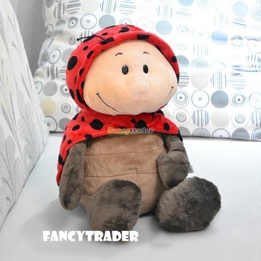 Fancytrader 20\'\' 50cm Copyrighted Plush Stuffed NICI Happy Spring Time Ladybug FT90400 (1)