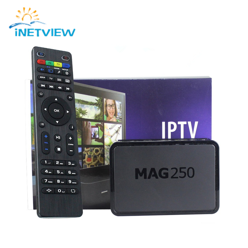 Prix pour Iptv Set Top Box Mag 250 Système Linux Iptv Mag250 STi7105 Mag250 Linux TV Box 256 M Même Avec Mag254 Livraison gratuite
