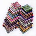 Pañuelo 100% de satén de seda Natural para hombre del pañuelo de moda banquete de boda Classic Pocket Square # a7