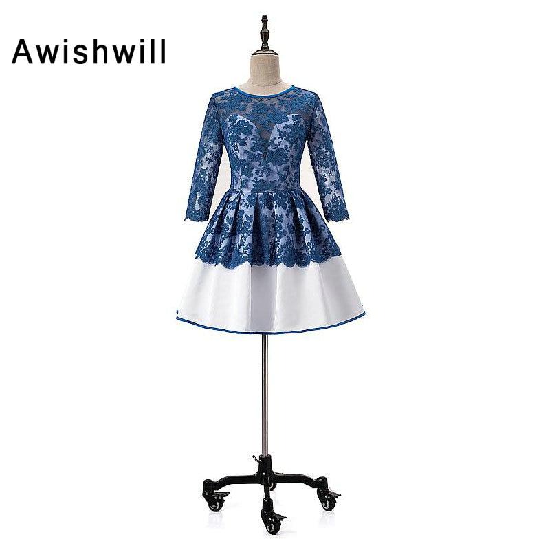 Nouvelle mode encolure dégagée Appliques courtes Mini robes de retour 2019 cristal perlé 8th Grade Graduation robe de bal à la fête