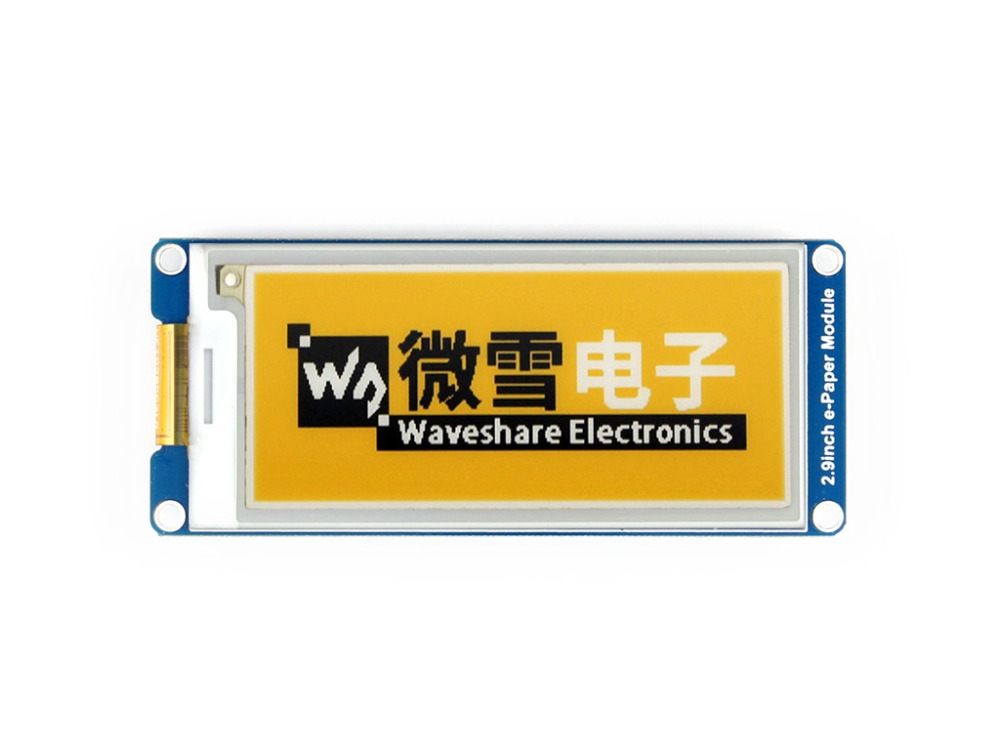 Waveshare 2.9inch E-Ink Display Module Yellow/black/white Three-color E-paper SPI Interface For Raspberry Pi Wide Viewing Angle
